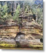 Cliffs At The Dells Metal Print
