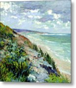 Cliffs By The Sea At Trouville  Metal Print