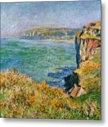 Cliffs Near Pourville Metal Print