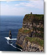 Cliffs Of Moher County Clare Ireland Metal Print