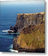 Cliffs Of Moher Ireland View Of Aill Na Searrach Metal Print