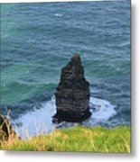 Cliff's Of Moher Needle Rock Formation In Ireland Metal Print