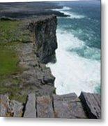 Cliffs Of The Aran Islands 5 Metal Print