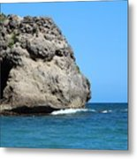 Cliffs On The Beach Dominican Republic  Metal Print