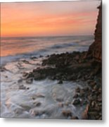 Cliffside Sunset Metal Print