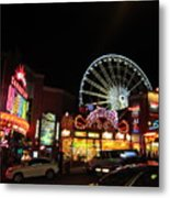 Clifton Hill At Night Metal Print