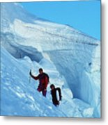 Climbers On Mont Blanc Metal Print