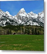 Climbers Ranch In Spring Metal Print