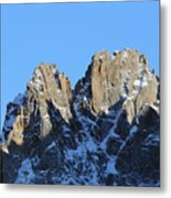 Climbers Sunlit Challenge Metal Print