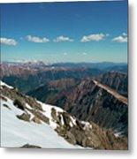 Climbing Greys Peak Metal Print