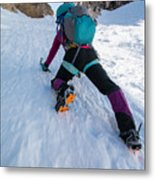Climbing The North Coulior On Mcgown Peak Metal Print