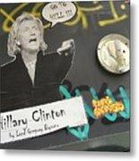 Clinton Message To Donald Trump Metal Print