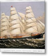Clipper Ship, 1875 Metal Print