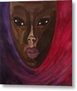 Cloaked Or Mask Metal Print