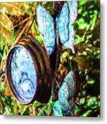 Clock And Butterflies R1 3580vt - Photo Art Metal Print