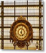 Clock Dorsay Museum Metal Print
