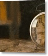 Clock - Id 16218-130706-9555 Metal Print