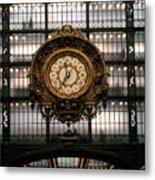 Clock Musee D'orsay Metal Print