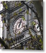Clock Tower In Buenos Aires Metal Print
