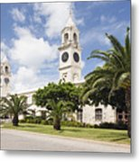 Clock Towers Of The Royal Naval Dockyard Metal Print