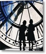 Clock Watching Metal Print