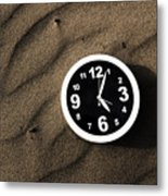 Clocks And Ripples Metal Print