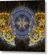 Clockwork Butterfly Metal Print