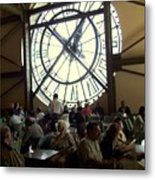 Clockwork Cafe Metal Print