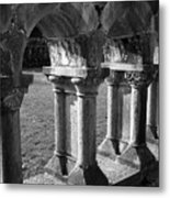 Cloister At Cong Abbey Cong Ireland Metal Print