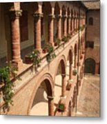 Cloistered Courtyard Metal Print