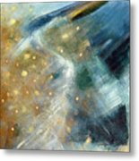 Close Encounter With A Great Blue Metal Print
