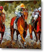 Close Race Metal Print