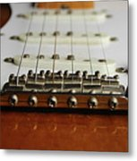 Close Up Electric Guitar Metal Print