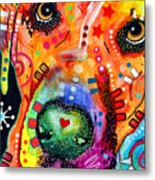 Close Up Lab Warpaint Metal Print by Dean Russo