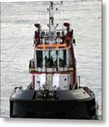 Close Up Of A Tugboat In Venice Harbor Metal Print