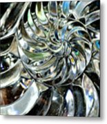 Close-up Of Glass Chambered Nautilus Metal Print
