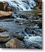 Close Up Of Reedy Falls In South Carolina Metal Print