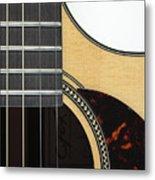Close-up Of Steel-string Guitar Metal Print