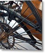 Close Up On Vintage Wheel Of Bicycle  Metal Print