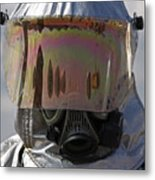 Close-up View Of A Firefighter Metal Print