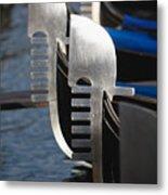 Close Up Views Of Gondola Bows Metal Print