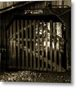 Closed Barn Metal Print