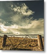 Closed Gates And Open Paddocks Metal Print