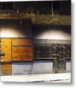 Closed Shop Stall Doors Metal Print