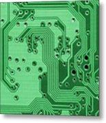 Closeup Of A Motherboard Metal Print