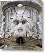 Closeup Of A Public Fountain In Dubrovnik Croatia Metal Print