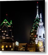 Closeup Of City Hall Philadelphia Metal Print