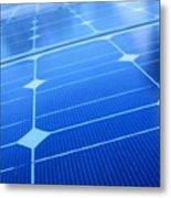 Closeup Of Solar Panels Metal Print