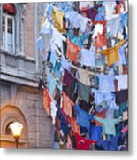 Clothes In The Street Metal Print