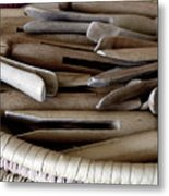Clothes-pins Metal Print